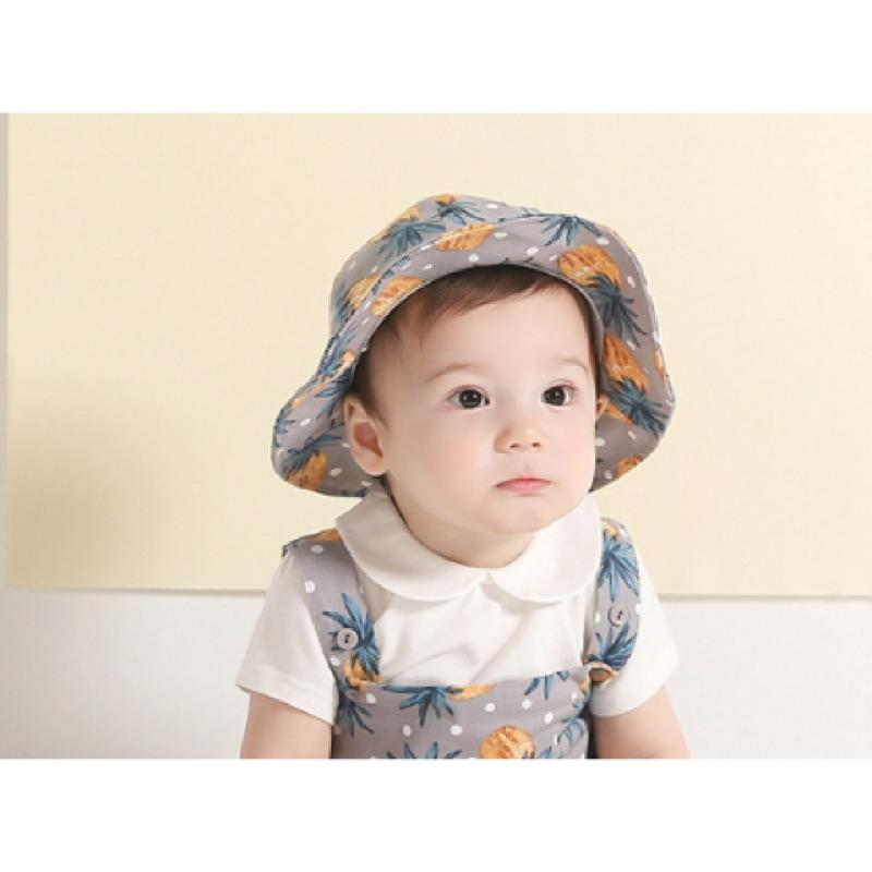 寶寶純棉鳳梨帽子