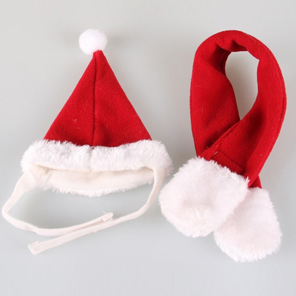 吉仔仔狗帽子可愛帥氣聖誕紅色狗狗套裝(紅色套裝中碼)(下單備註圍巾和帽子pe 袋包裝一起)