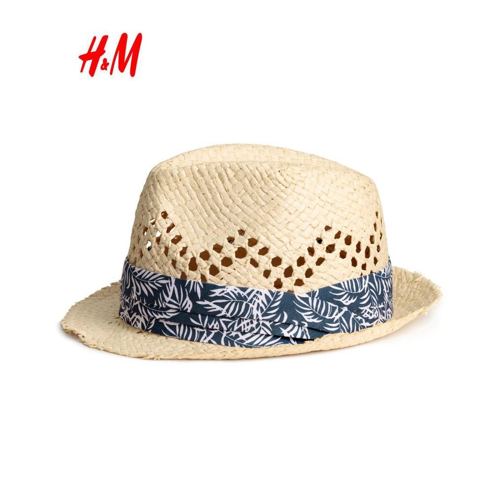 瑞典H M 小型男紳士風帥氣編織草帽 帽