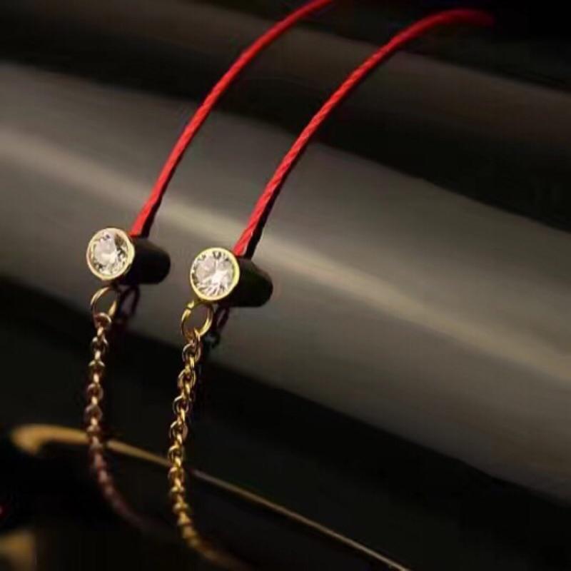 有實戴照925 純銀高 版本法國幸運紅繩鑽石玫瑰金幸運小紅繩聖誕節情人節生日 手鍊手環