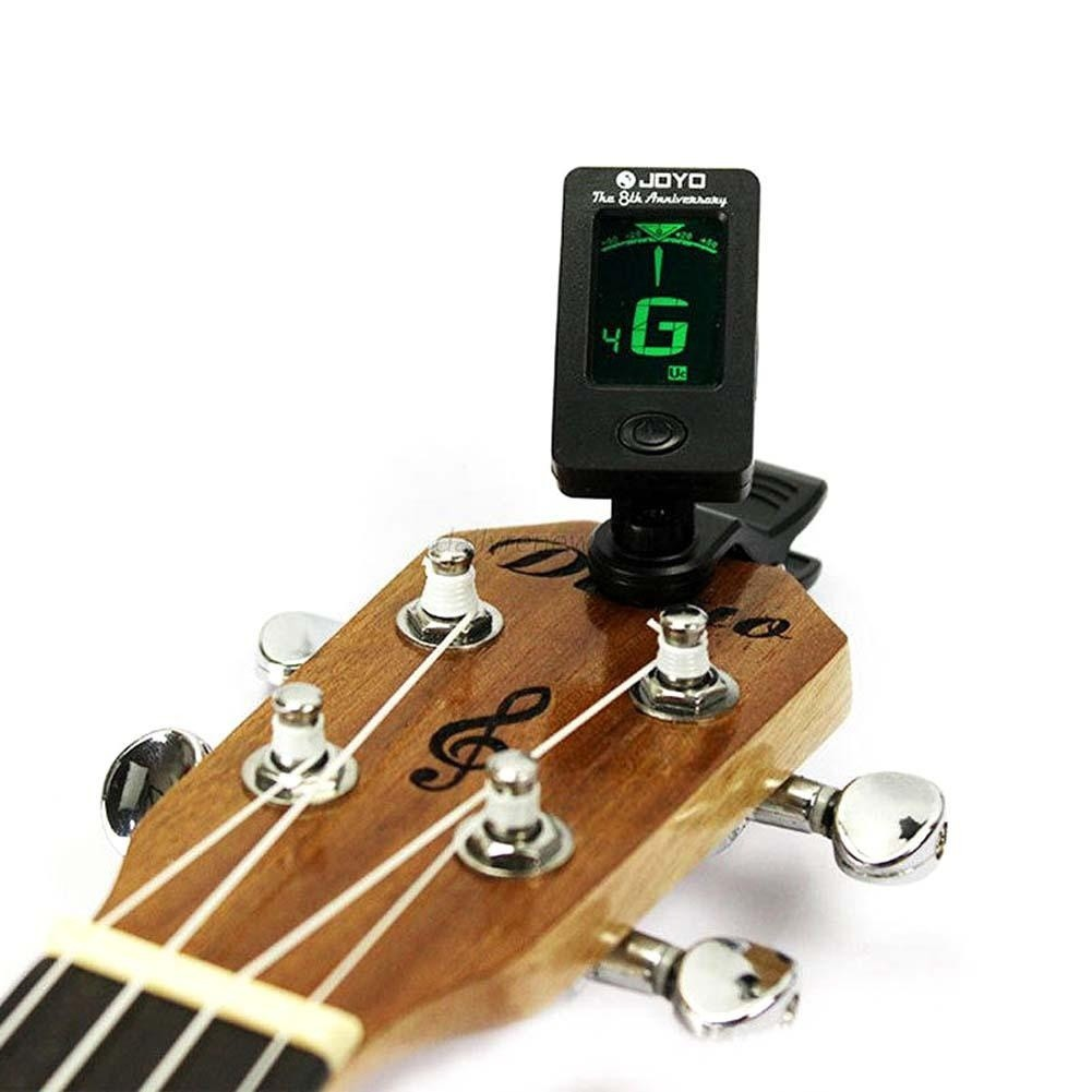 夾式液晶數字色調電子吉它調音器低音