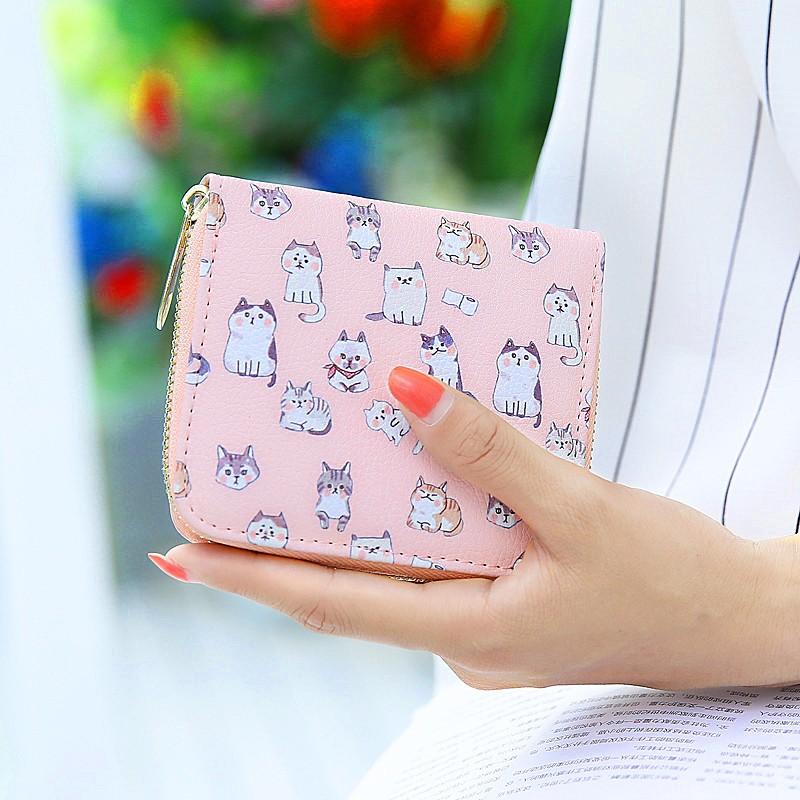 女士可愛短款錢包女日韓小清新零錢包學生迷你硬幣包零錢位錢夾