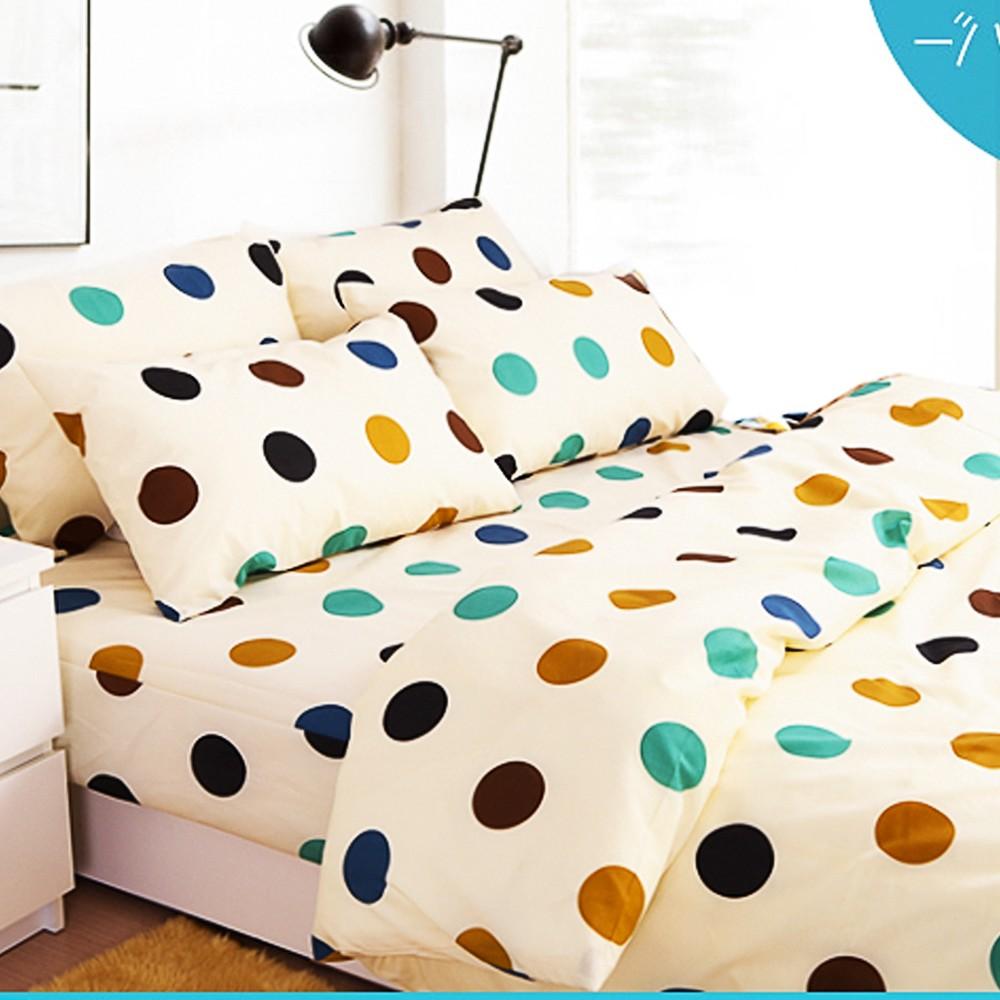 ❤ 5 折❤床包被套組雙人單人~04 點點繽紛~100 超細纖維,Artis 製