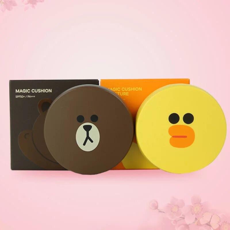 韓國Missha line friends 合作 蜜粉,熊大、莎莉,送2 替換芯
