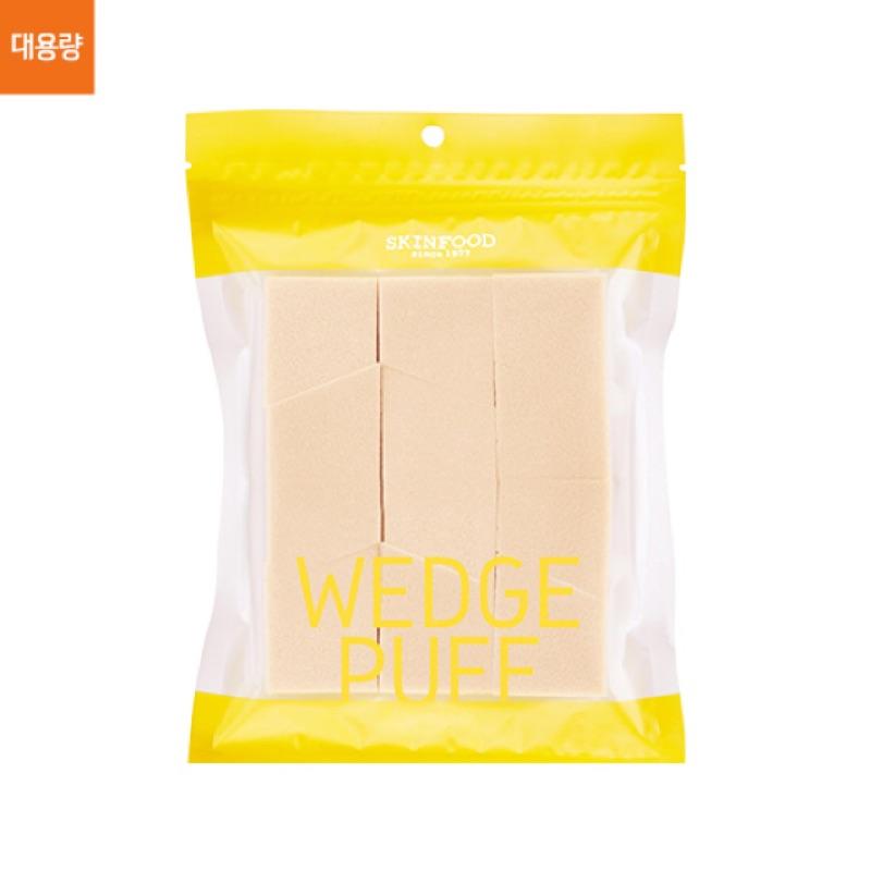 現預Skinfood wedge puff 角型上妝海綿大容量包(12 入)