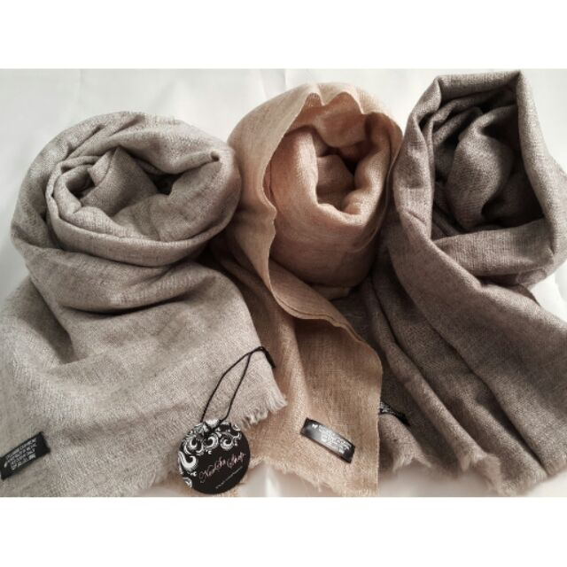 NorSa ~尼泊爾 Pashmina Cashmere Shahmina 羊絨毛圍巾披巾