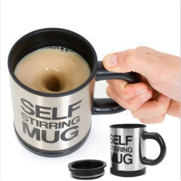 自動攪拌杯不銹鋼 多色趣味咖啡攪拌杯子