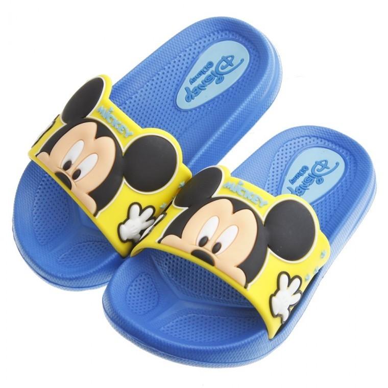童鞋m Disney 迪士尼米奇藍色超輕量兒童輕便拖鞋15 19 公分MJU728B