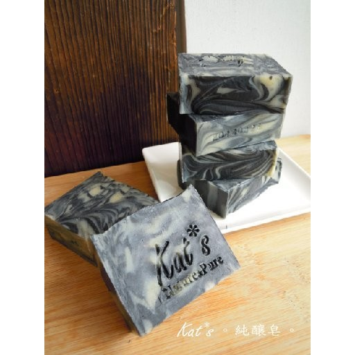 ~Kat s 植萃 皂~活性炭平衡調理皂~奈米級備長炭添加~去除毛孔油膩髒污婚禮伴手小物母