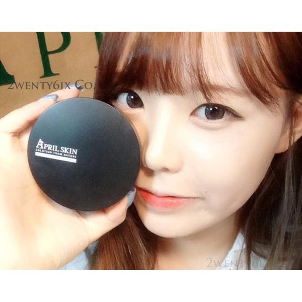 ~ 正品~韓國April Skin 氣墊粉餅黑SPF50 PA 魔法石潔顏皂100g