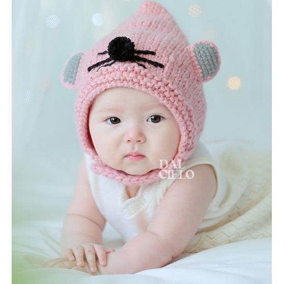 冬款男女童寶寶可愛萌款小老鼠 毛線帽