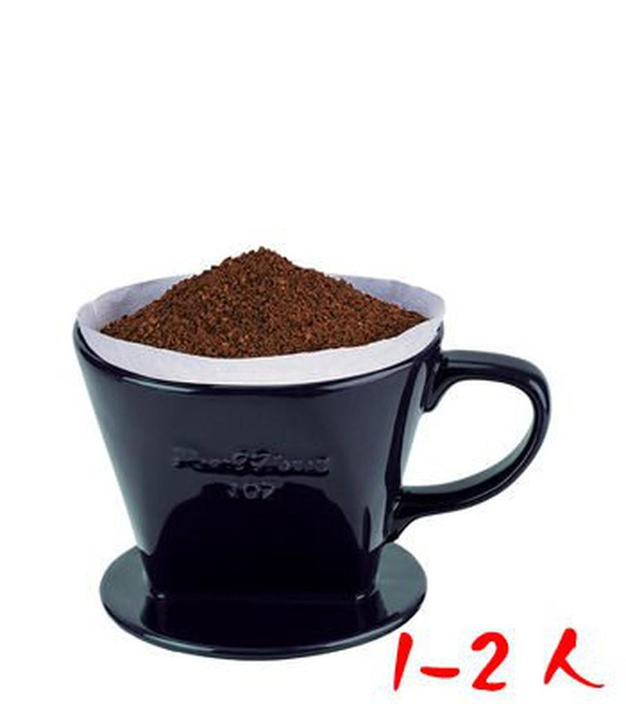 2059 居家館♦寶馬牌陶瓷咖啡濾杯1 2 人黑色手沖滴漏式咖啡濾器 濾紙 ₁