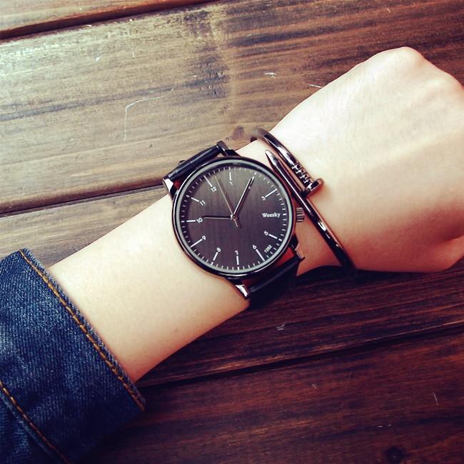 4 色防水韓國 潮流潮男簡約學生女錶 休閒復古皮帶石英情侶手錶一對
