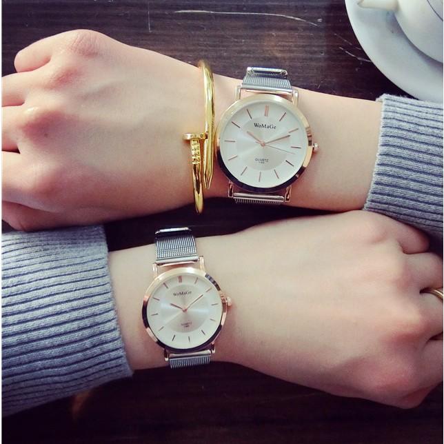女款手錶初中學生 簡約鏈防水小清新 超薄氣質女生女表