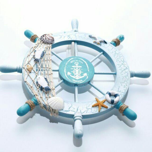 雙魚地中海輪舵舵手海洋系列帆船棉麻zakka 木質貝殼外銷訂單