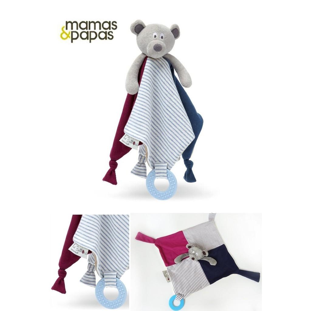英國mamas papas 小熊安撫巾超柔料超柔軟安撫巾絨布手感嬰兒玩具安撫玩具