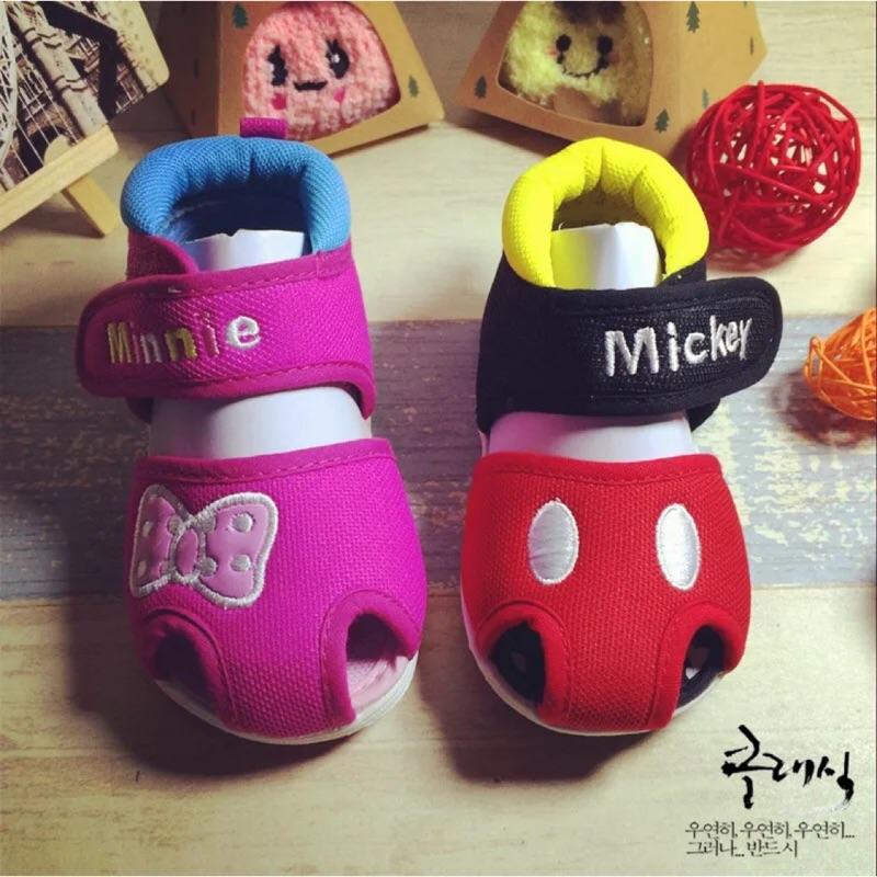 迪士尼米奇米妮寶寶學步鞋男女童涼鞋包頭童鞋1 3 歲機能鞋