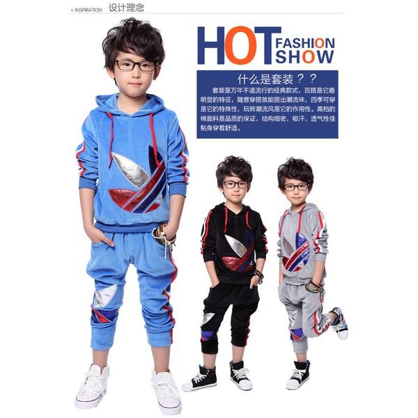 男童 套裝2016 裝兒童長袖衛衣寶寶長褲 兩件套