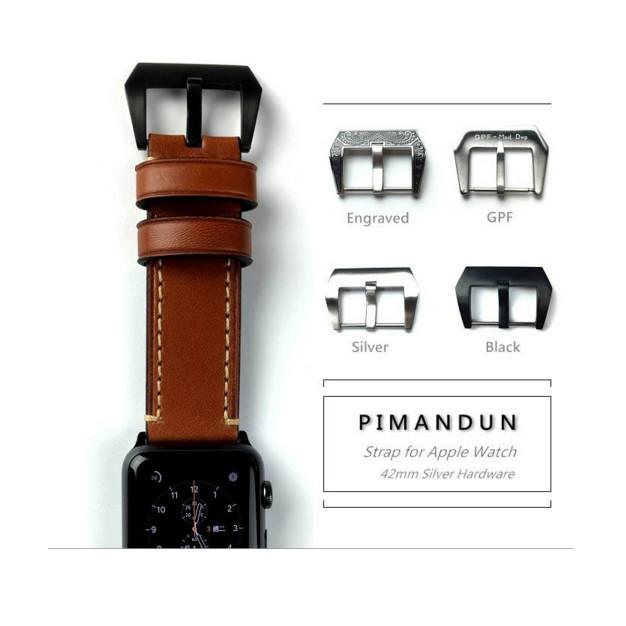 ~皮曼頓~Apple Watch 42mm Paneria 沛納海勞力士 義大利真皮錶帶