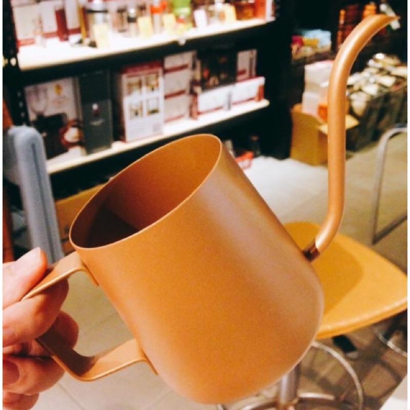 門市☕️諾曼愛玩咖☕️細口壺不銹鋼手沖壺咖啡壺掛耳咖啡壺350ml ~暖金色款