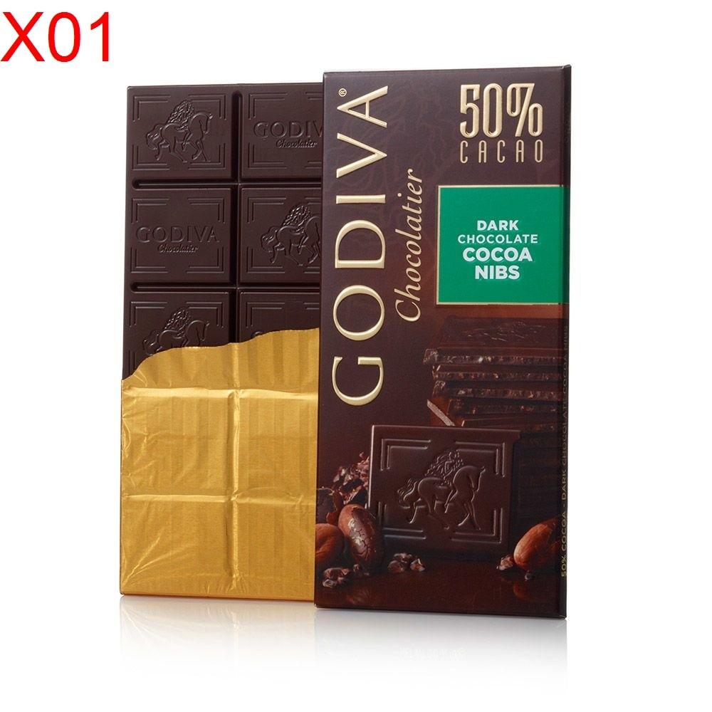 ~西寧鹿~GODIVA 50 可可碎黑巧克力磚巧克力片dark chocolate coc
