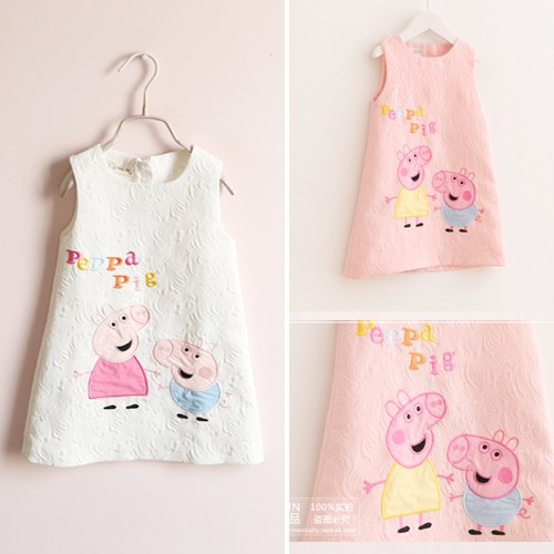 兒童 卡通可愛小豬背心連衣裙