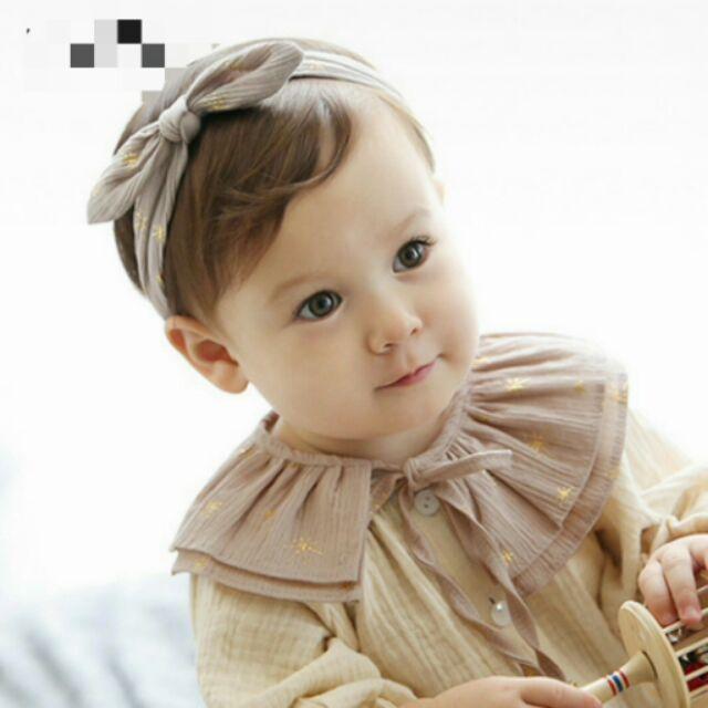 ⌛ ⏳寶寶裝飾領星星蝴蝶結繫帶領巾圍兜防水圍兜口水巾吃飯圍兜吃飯衣