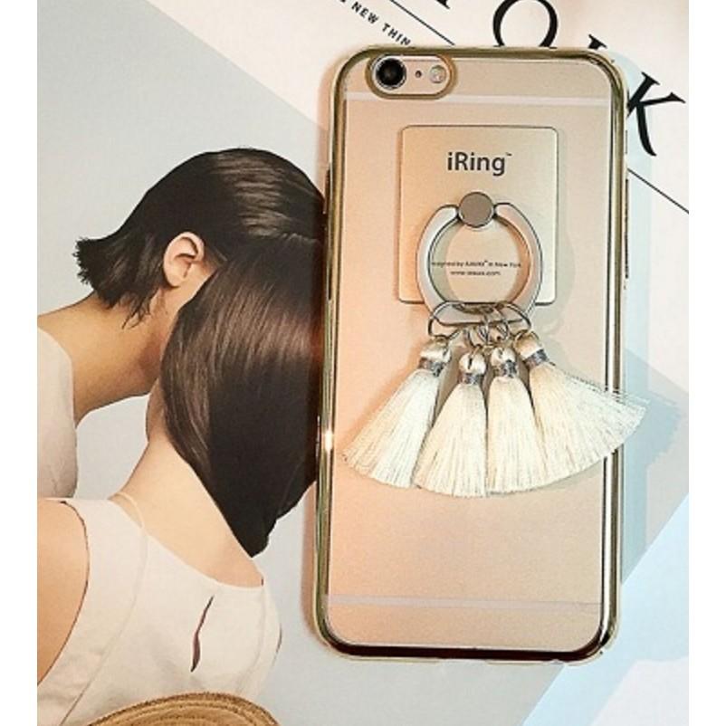 iPhone7 ⃣️韓國 極簡流蘇電鍍金邊銀邊蘋果iPhone7 iPhone6 手機殼