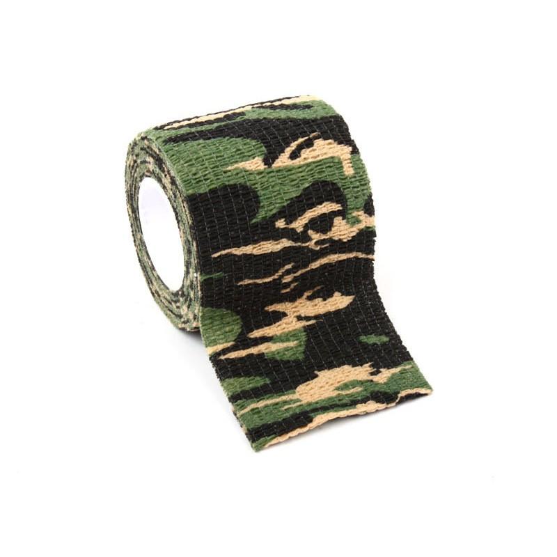 〈幸福二次方〉戶外偽裝仿生迷彩防水膠帶膠布相機保護貼布賞鳥野戰漆彈叢林迷彩ZA 21017
