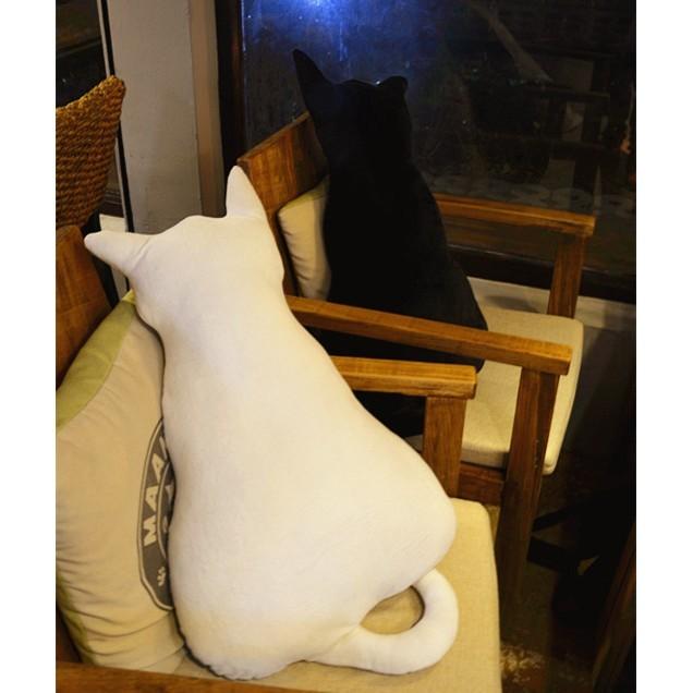 背影貓抱枕45 公分 居家擺設娃娃療癒貓咪pusheen 生日 情人節 【F11 】