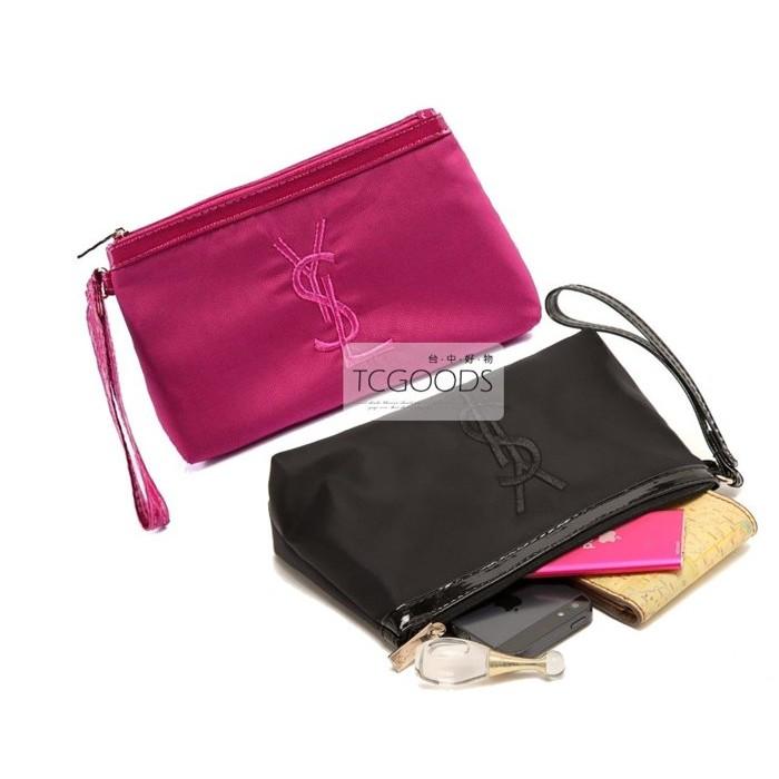 ~台中好物~YSL PARFUMS 贈品 刺繡LOGO 手拿包化妝包手機包收納化妝包零錢袋