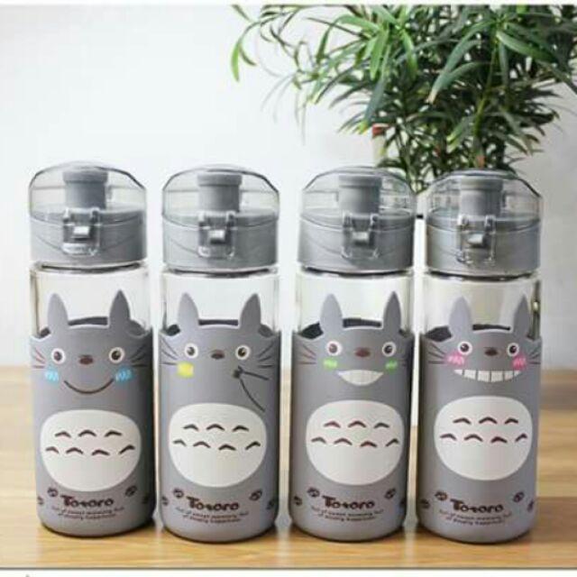 ~ ~玻璃龍貓水杯彈跳玻璃瓶水瓶龍貓玻璃杯玻璃瓶龍貓水壺