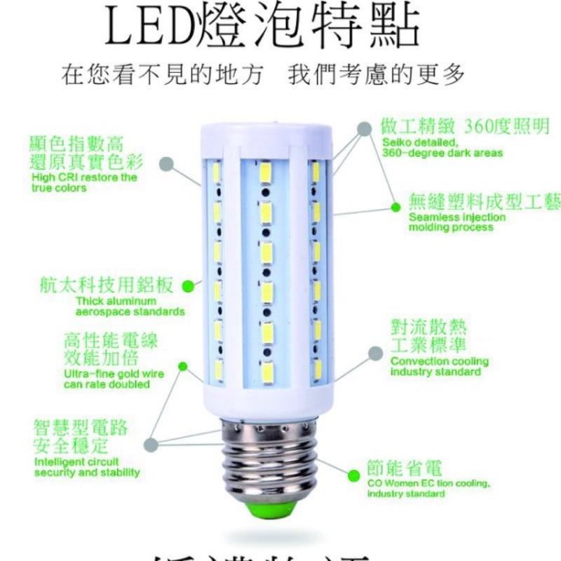 LED 燈炮15W 20W 25W 白光黃光玉米燈E27 接頭省電燈泡崁燈藝術燈恆流