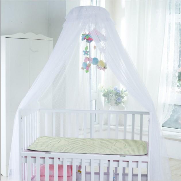 廠家直銷宮廷嬰兒床蚊帳帶支架兒童床加密寶寶幼兒園蚊帳太大只能發黑貓宅配