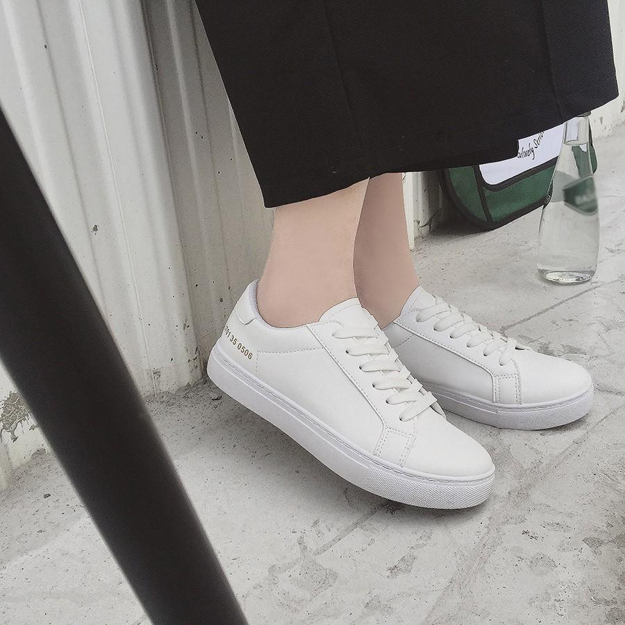 原宿女咖衣櫃2016 小白鞋女系帶 平底單鞋學生休閒鞋白色鏤空透氣 鞋
