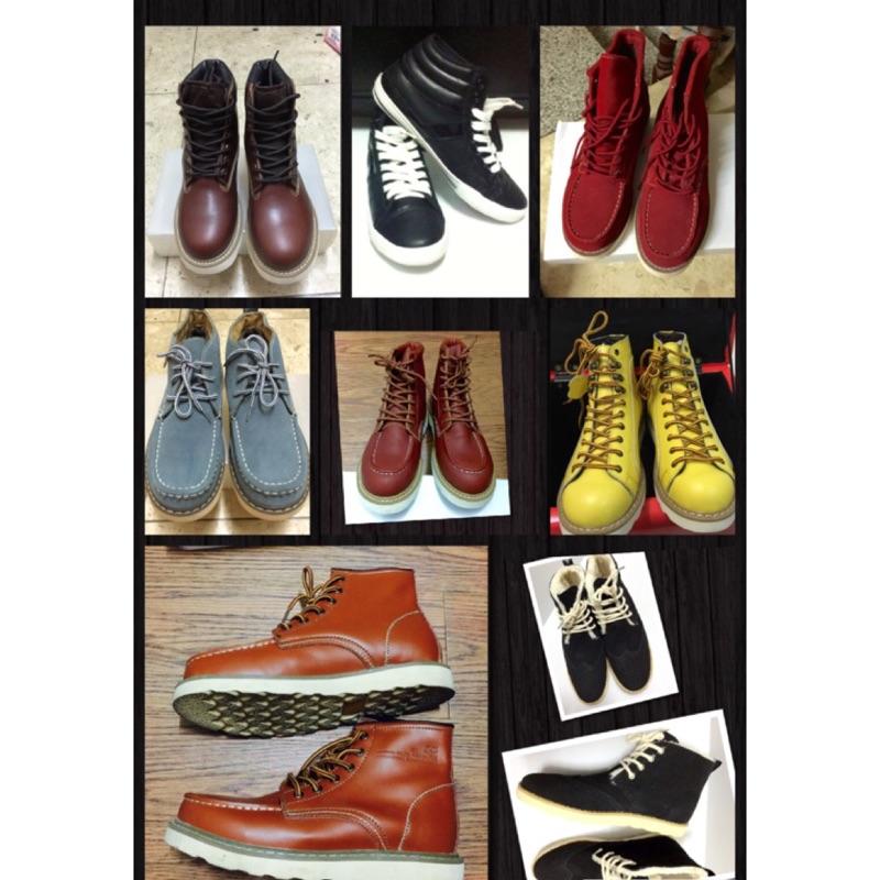 真皮工作鞋馬丁鞋皮鞋靴子高筒鞋低筒鞋拖鞋蟑螂鞋博肯鞋厚底鞋馬丁鞋夾腳拖鞋