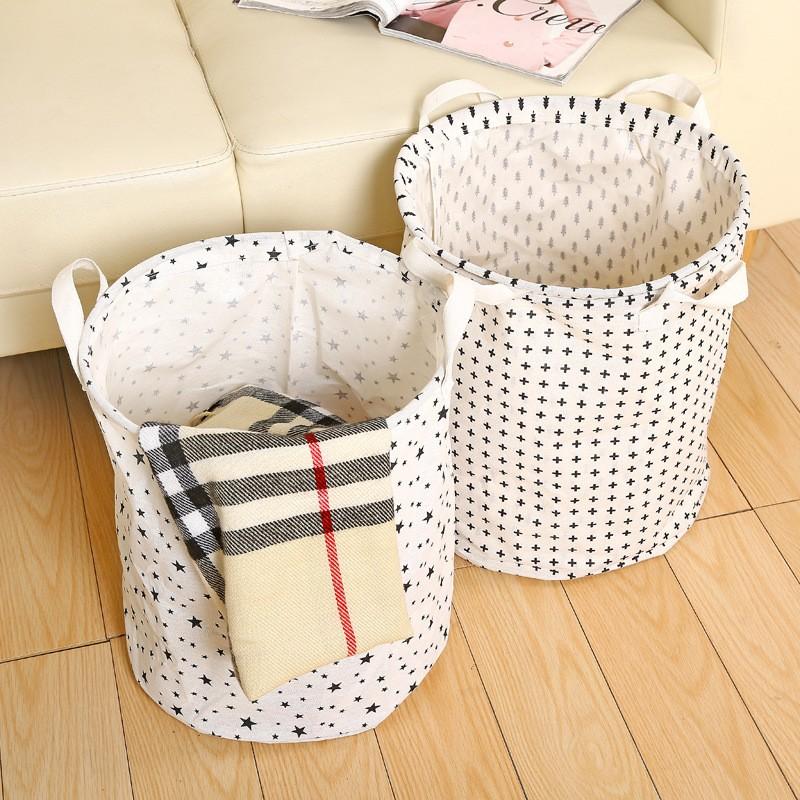 折疊防水洗衣籃臟衣服收納筐大號玩具收納袋臟衣籃棉麻臟衣簍收納桶
