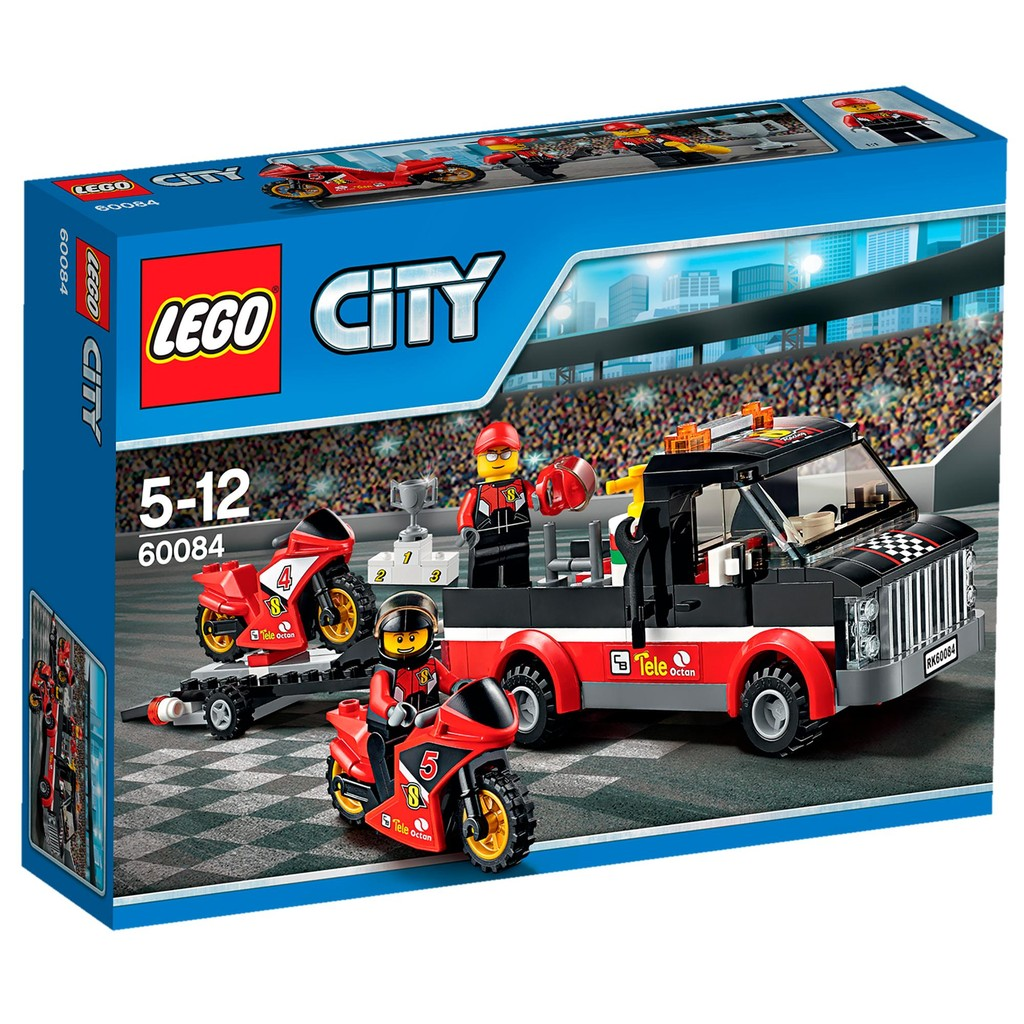 [想樂] 樂高Lego 60084 City 城市系列競賽自行車運輸車