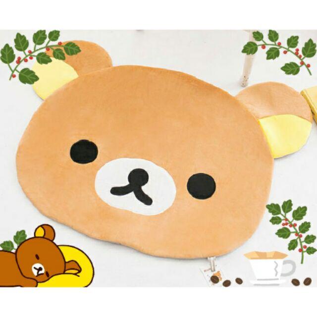 拉拉熊懶懶熊大頭圖案 地毯地墊