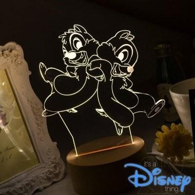 RA Design 3D LED 小夜燈美國 師奇奇蒂蒂~ 1280 元~迪士尼花栗鼠 東