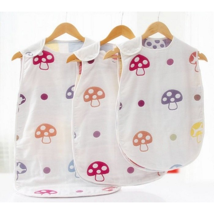 ♡Bay Bay shop ♡~ ~寶寶蘑菇紗布睡袋分腿防踢被