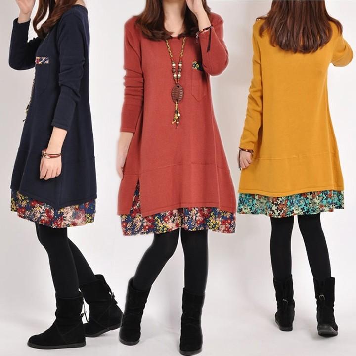 Zeagoo ❤ 爆款韓系加厚棉可愛俏皮加長款洋裝