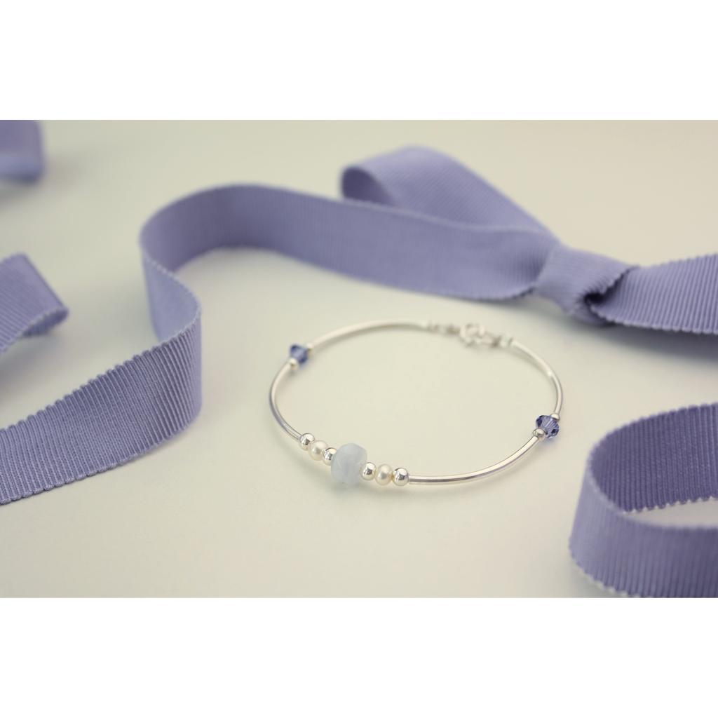 ◆hippie ◆曙暮光│crepuscule 天然瑪瑙珍珠薰衣草紫色水晶S925 純銀手