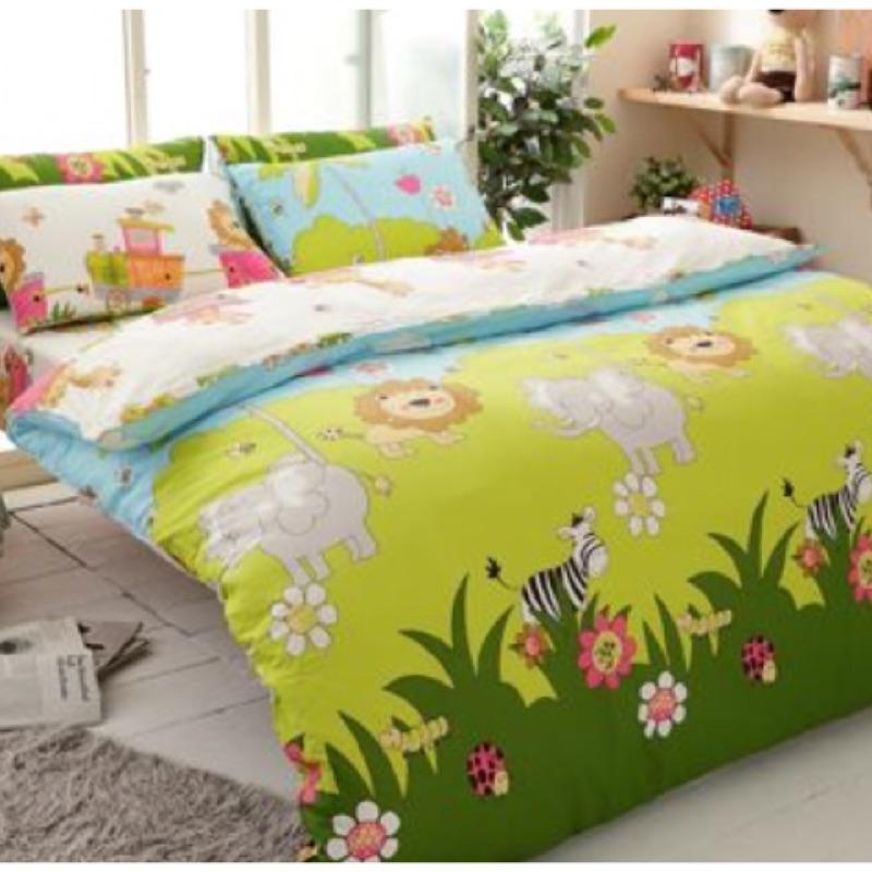 成媽寢具銷售TOP 6 森林王國特大天絲絨床包美式枕頭套兩個涼被、兩用被套,四件組, 五組
