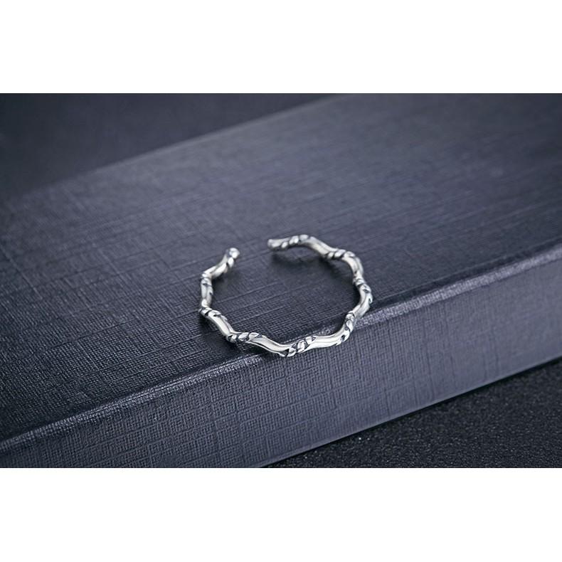 s925 純銀,這個夏天美美噠,小清新氣質oL ,S925 純銀泰銀波浪花紋開口戒指尾戒關