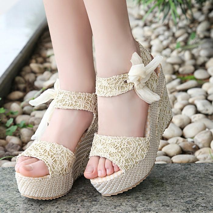 女鞋尖頭鞋單鞋魚嘴鞋松糕鞋厚底鞋沙灘鞋拖鞋休閒涼鞋樂福鞋羅馬涼鞋女鞋  松糕女鞋蝴蝶結蕾絲