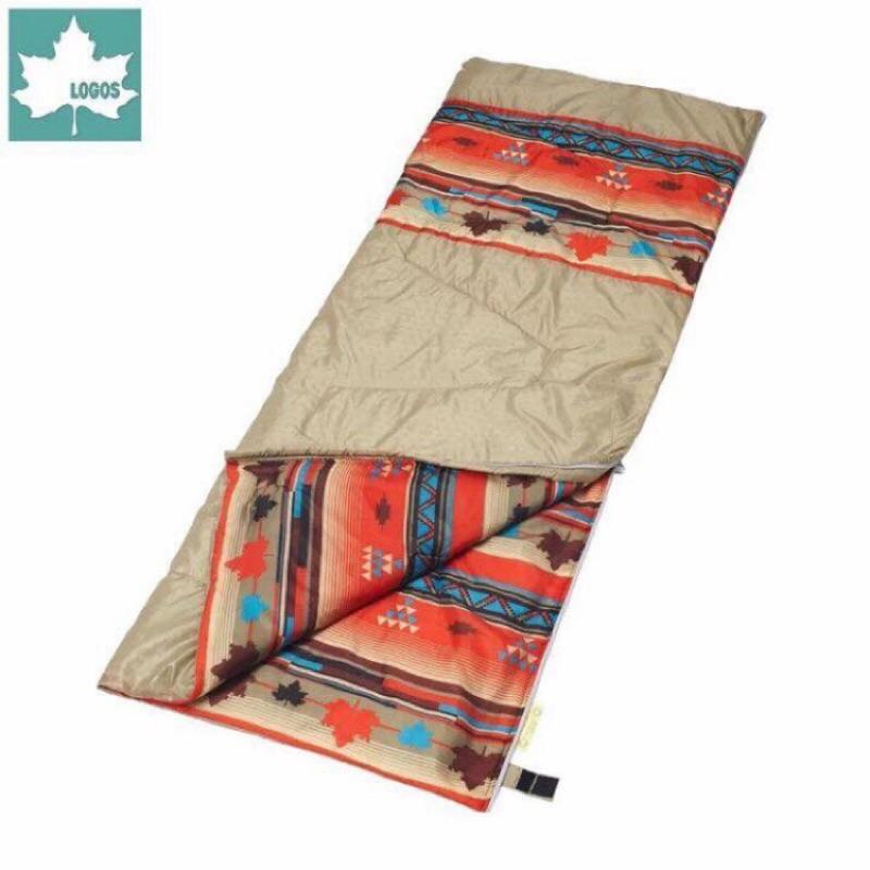 logos 露營戶外印地安丸洗化纖睡袋6 ℃可機洗可拼接,可超取