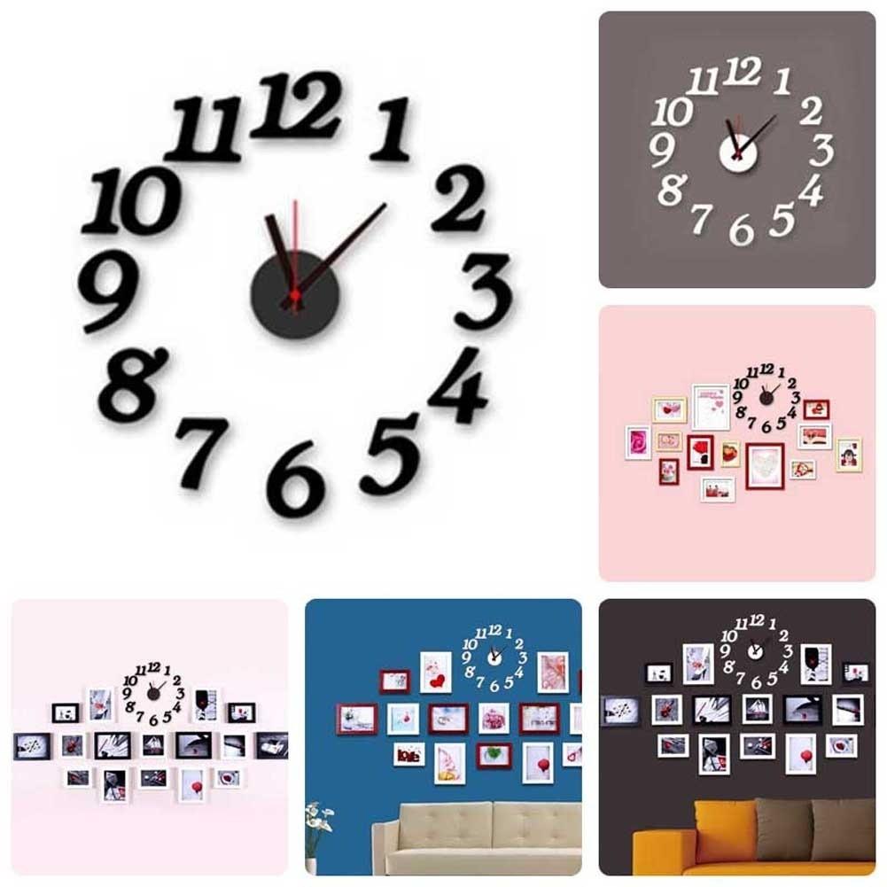3D 壁鐘DIY 手錶牆貼時鍾家居裝飾