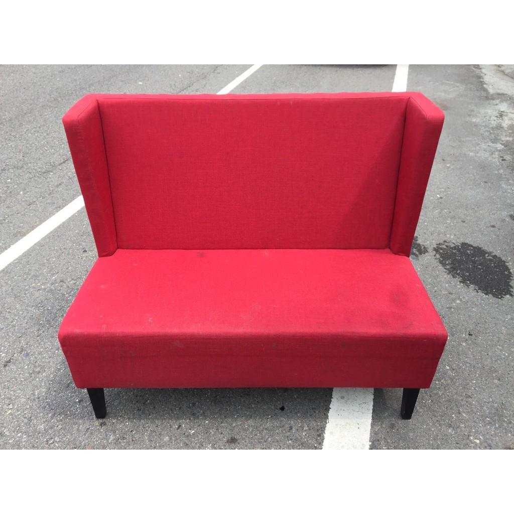 東鼎 艷紅兩人座高背布沙發椅兩人座沙發布沙發 沙發雙人座沙發 沙發二人座沙發2 手