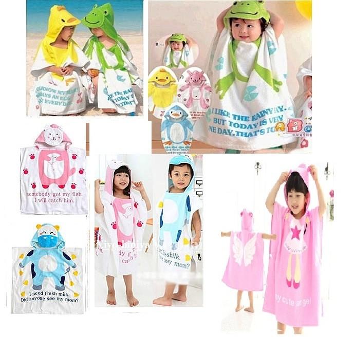 ~公主小舖~韓國新生嬰兒浴袍兒童連帽浴巾新生嬰兒斗篷套頭浴巾沙灘巾兒童浴巾